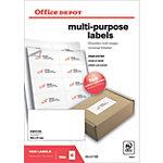 Étiquettes multifonctions Office Depot Coins droits 105 x 57 mm Blanc 105 x 57 mm 100 Feuilles de 10 Étiquettes