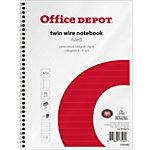 Cahier ligné reliure intégrale Office Depot Blanc A5+ Perforé 160 Pages   80 Feuilles