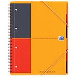 Cahier OXFORD Organiserbook A4 Grands carreaux Séyès Orange   80 Feuilles