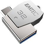 Clé USB OTG EMTEC T250B Mobile & Go micro USB 32 Go Argent