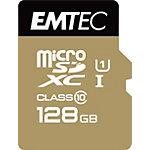 Carte mémoire EMTEC Gold 128 Go Noir, Doré
