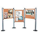 Panneau liège pour stand modulable Nobo Aluminium, marron 128,5 x 92 cm