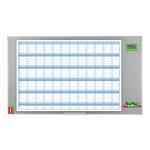 Planning annuel magnétique   Nobo   performance plus 60 x 90 cm