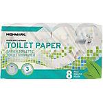 Rouleaux de papier toilette Highmark 3 épaisseurs   8 Rouleaux de 250 Feuilles
