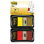 Index repositionnables Post it I680 43,2 (H) x 25,4 (l) mm Rouge, jaune   100 Feuilles