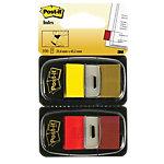 Index repositionnables Post it I680 43,2 (H) x 25,4 (l) mm Rouge, jaune   100 Feuilles