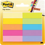 Index repositionnables Post it 670 10AB 44,4 (H) x 12,7 (l) mm Assortiment   10 Unités de 50 Bandes