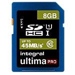Carte mémoire Integral Ultimapro 8 Go SDHC Bleu