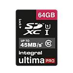 Carte mémoire Integral Ultimapro 64 Go SDHC Bleu