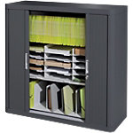 Armoire basse à rideaux Paperflow easyOffice 1 100 x 415 x 1 040 mm Anthracite