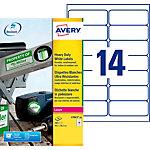 Étiquettes multifonctions AVERY Zweckform L7063 20 A4 Blanc 38,1 x 99,1 mm 20 Feuilles de 14 Étiquettes