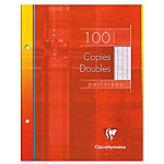 Copies doubles perforées Clairefontaine A5 Clairefontaine Blanc 100 Pages 50 Feuilles