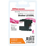 Cartouche jet d'encre Office Depot Compatible Brother LC125XL Magenta