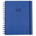 Agenda Exacompta Journée plannifiée 2020 1 Jour par page 18,5 x 22,5 cm Bleu