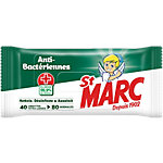 Lingettes nettoyantes désinfectantes St Marc Anti bactériennes Anti Bactérien, Désinfectant, Odeur agréable   80 Unités