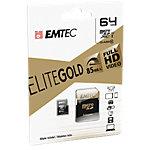 Carte mémoire Micro SD EMTEC EliteGold 64 Go microSDHC