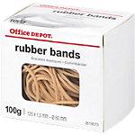 Élastiques en caoutchouc Office Depot 120 x 1,5 mm 80 mm Naturel   100 g