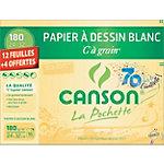 12 feuilles Canson à grain 180gr 24X32cm
