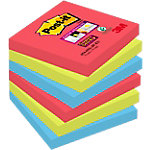 Notes repositionnables Post it 76 x 76 mm Assortiment   6 Unités de 90 Feuilles