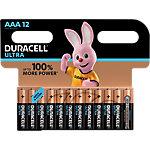 Piles alcalines Duracell ULTRA Ultra AAA   12 Unités