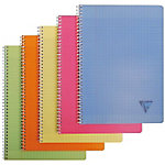 Cahier double spirale Clairefontaine Linicolor A4 Grands carreaux Séyès Assortiment   90 Feuilles