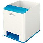 Pots à crayons Leitz WOW Dual Blanc, Bleu métallisé
