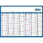 Calendrier Bouchut Grandrémy Économique 2021 Bleu, blanc