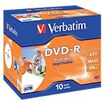 DVD R enregistrable Verbatim 4.7 Go 16x 10 Unités