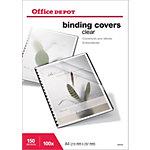 Couvertures de reliure PVC 150 microns Office Depot A4 Transparent   100 Unités
