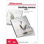 Couvertures de reliure Office Depot A4 PVC 240 µm Transparent   100 Unités