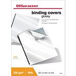 Couvertures de reliures Office Depot A4 Plastique 250  microns Blanc   100 Unités