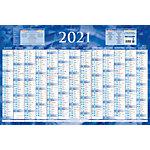 Calendrier annuel Bouchut Grandrémy 2019 1 An par page 65 (H) x 43 (l) cm Bleu ou rouge