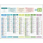 Calendrier Bouchut Grandrémy 14 mois 4 saisons 2020 21 x 26,5 cm