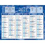 Calendrier semestriel Bouchut 2019 6 mois recto verso 17,5 (H) x 13,5 (l) cm Bleu ou rouge