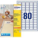 Étiquettes enlevables AVERY Zweckform L4732Rev 25 A4 Blanc 35,6 x 16,9 mm 30 Feuilles de 80 Étiquettes