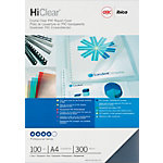 Couverture pour reliure HiClear GBC A4 Chlorure de Polyvinyle (PVC). 300 µm Transparent   100 Unités