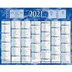 Calendrier Bouchut Grandrémy Semestriel 2019 6 mois recto verso 26,5 (H) x 21 (l) cm Bleu ou rouge