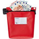 Sac de caisse réutilisable sécurité Val U Mail Rouge Zip