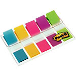Marque Pages Post it Étroits 1,19 x 4,32 cm Assortiment   5 Unités de 20 Bandes