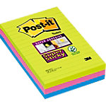 Notes adhésives Post it 101 x 152 mm Assortiment   3 Unités de 45 Feuilles