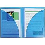 Pochettes de présentation Exacompta Twin File A4 Bleu, transparent