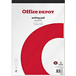Bloc notes Office Depot A4 Adhésif Blanc Papier Quadrillé 100