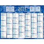 Calendrier semestriel Bouchut Grandrémy Bouchut 2019 7 mois recto verso 32 (H) x 42 (l) cm Bleu ou rouge