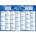 Calendrier semestriel Bouchut Grandrémy Bouchut 2019 7 mois recto verso 54 (H) x 38,5 (l) cm Bleu ou rouge