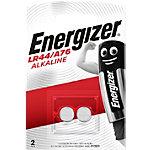 Piles bouton Energizer Alcaline LR44 2 Unités