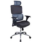 Siège de bureau ergonomique Mécanisme synchrone Tissu, résille WorkPro Nimbus Noir, bleu