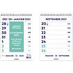 Calendrier Brepols Français 210 x 297 mm 1 Semaine par page 2021 Blanc