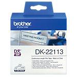 Ruban d'étiquettes Brother DK 22113 62 x 12 mm Transparent