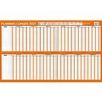 Planning Millésimé Bouchut Grandrémy Congés et absences 2020 Orange, blanc