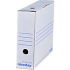 Boîte d'archives Niceday 8 (L) x 33,5 (l) x 24,5 (H) cm Blanc   50 Unités